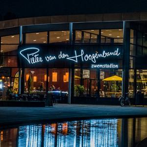 Letters in neon - Pieter van de Hoogeband Zwemstadion Eindhoven